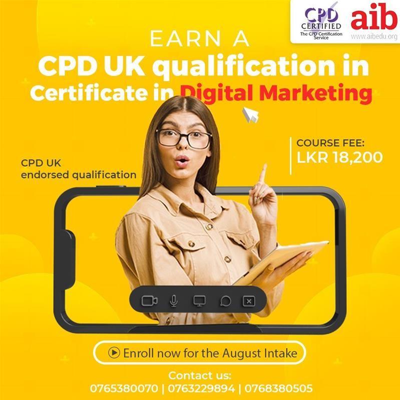 Certificate in Digital Marketing CPD (UK)