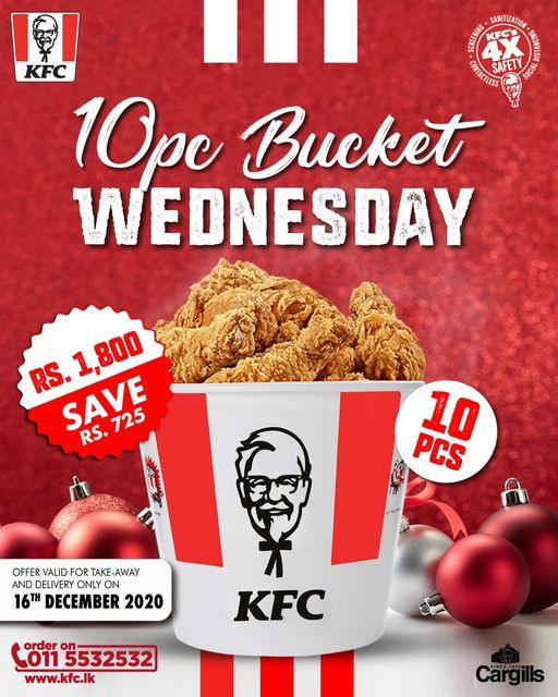 KFC Sri Lanka - Grab a bucket today for just Rs. 1,800 and share the happiness this season!
