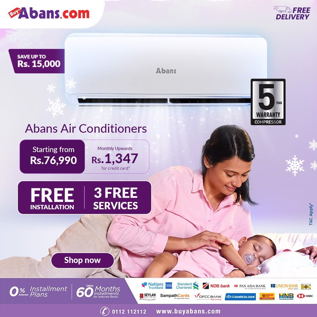 www.BuyAbans.com - Hurry up and grab your Abans Air Conditioner at a special ONLINE price.