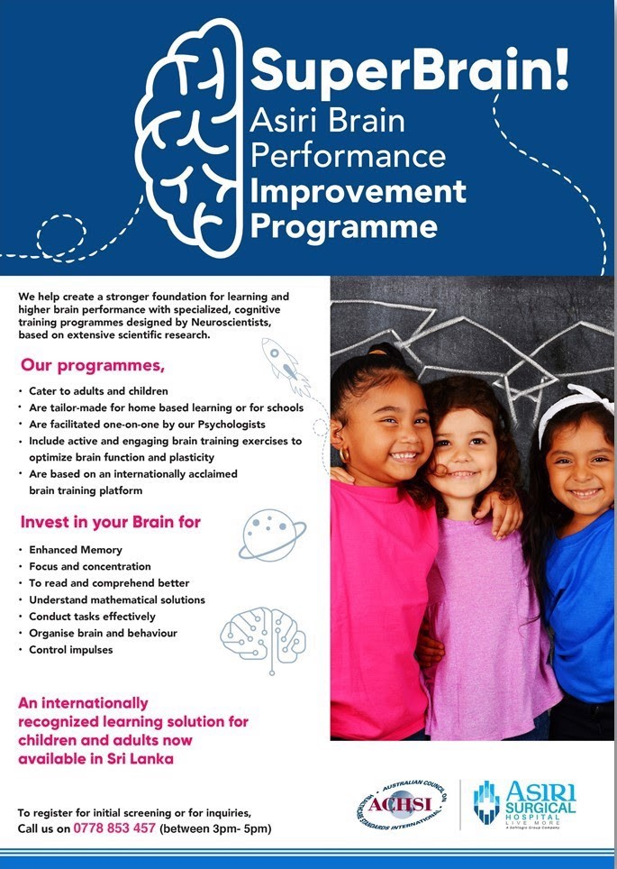 Brain Performance Improvement Programme at Asiri Hospital