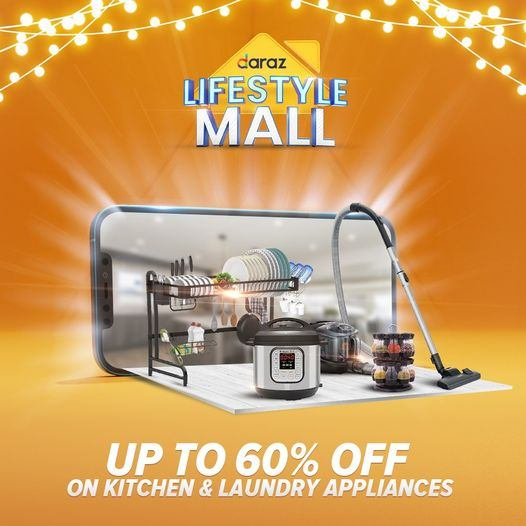 It's time to revamp your home with Lifestyle Mall! Enjoy up to 60% off on kitchen & laundry appliances and many more!