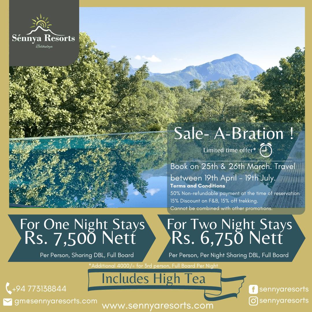 """Sale-A-bration at """"Sennya Resorts"""""""