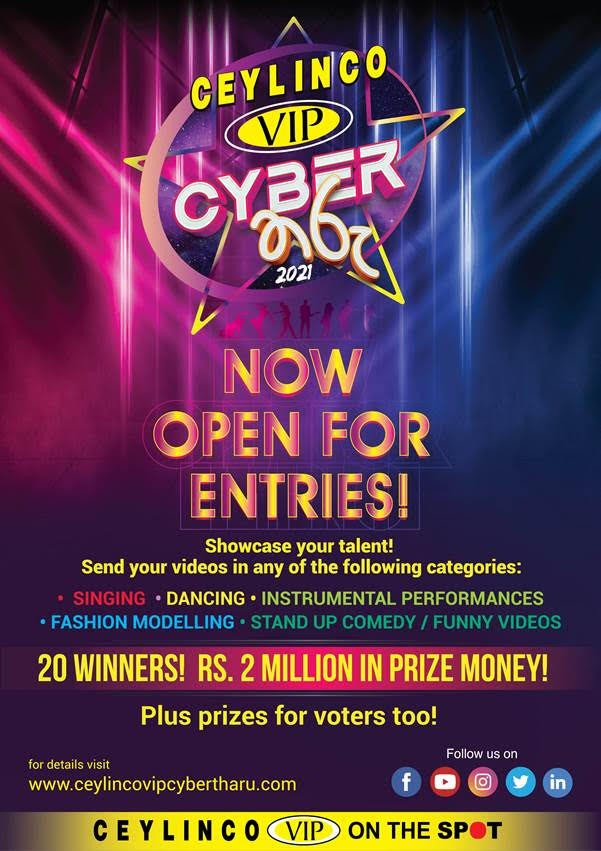 Ceylinco VIP Cyber Tharu - Now Open For Entries