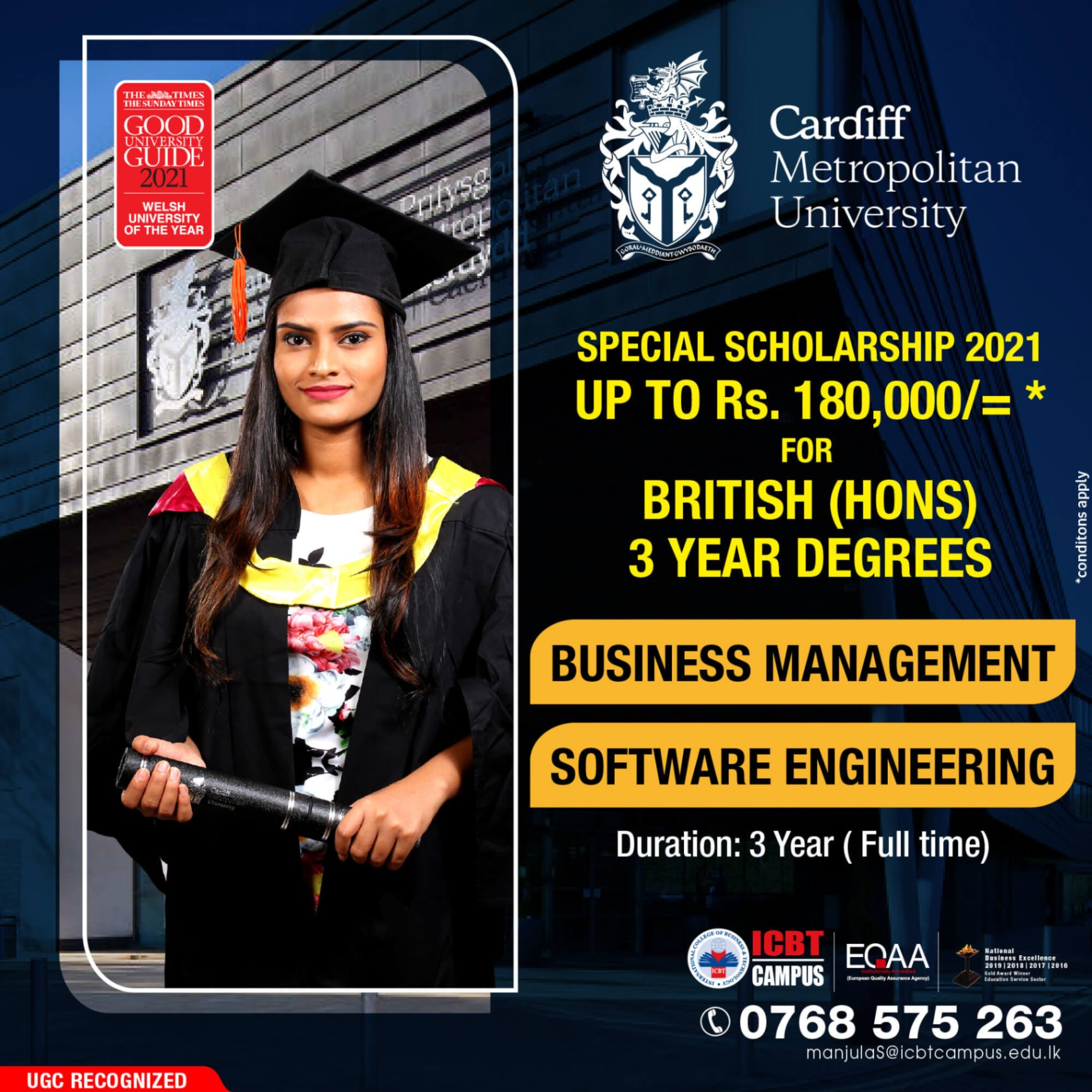 Obtain world-class UK Degree Qualification with Special Scholarship
