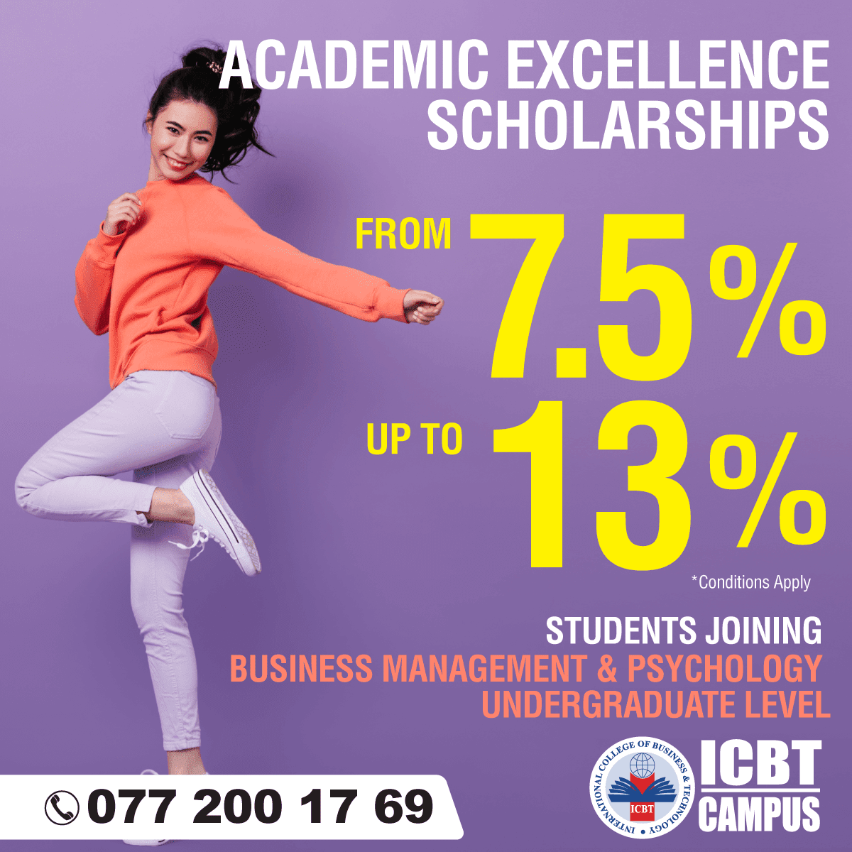 Are You After A/Ls' ? Secure Your Place for an Academic Scholarship !