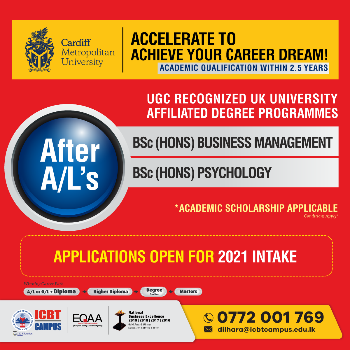 After A/Ls' - Accelerate To Achieve Your Career Dream !