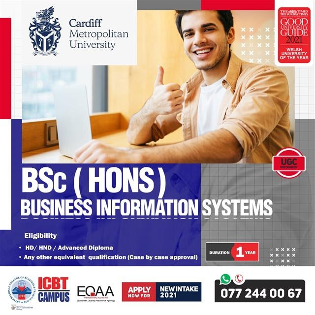 Enroll Now for BSc (Hons) Business Information Systems (Top Up) Degree
