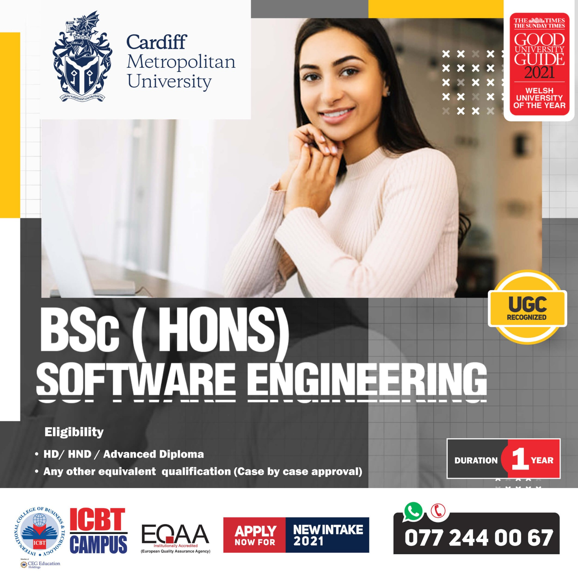 Enroll Now for BSc (Hons) Software Engineering (Top Up) Degree