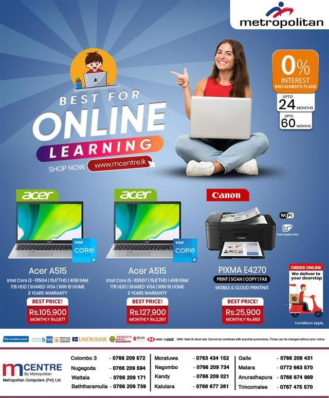 BEST FOR ONLINE LEARNING - Up to 60 Months 0% Interest Installment plans