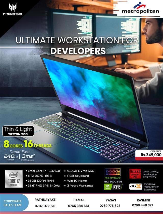 Ultimate Workstation For Developers - Acer Predator Triton 300