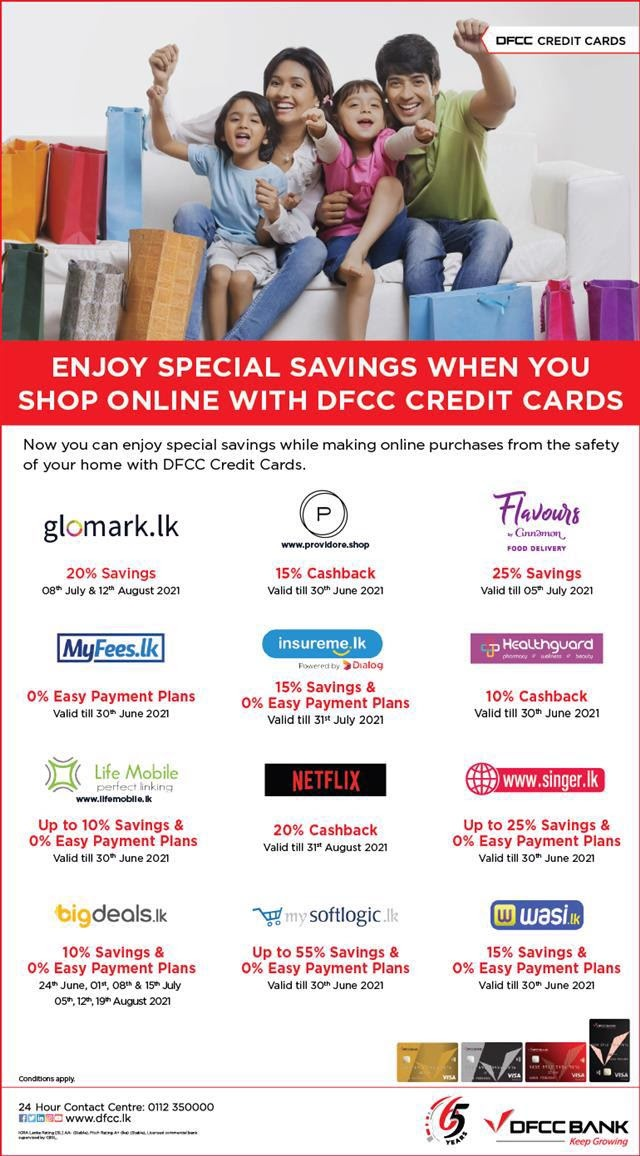 Shop Online & Enjoy Special Savings with DFCC Credit Cards!