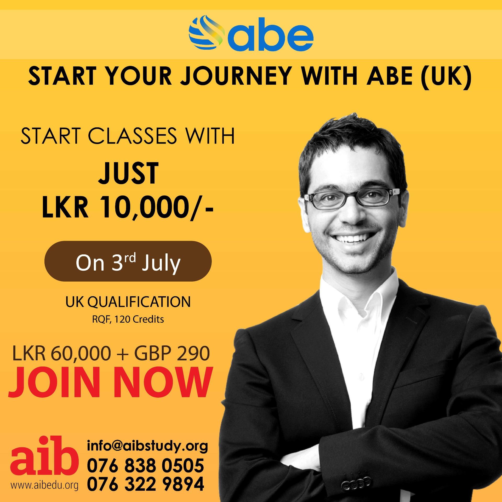 START YOUR JOURNEY WITH ABE (UK)
