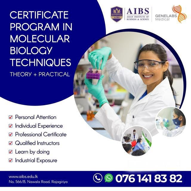 Certificate Program in Molecular Biology Techniques
