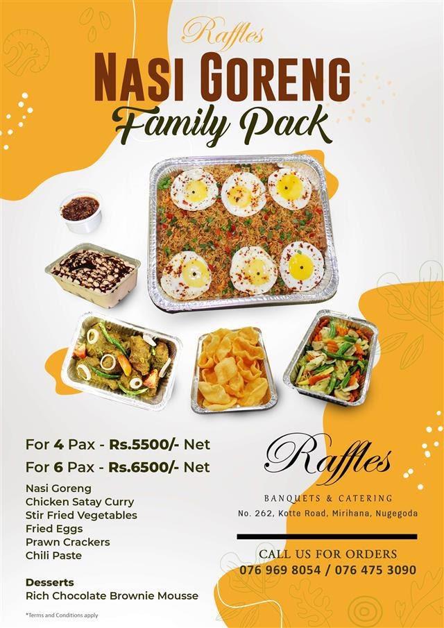 Enjoy the Weekend with Raffles Nasi Goreng Family Pack!
