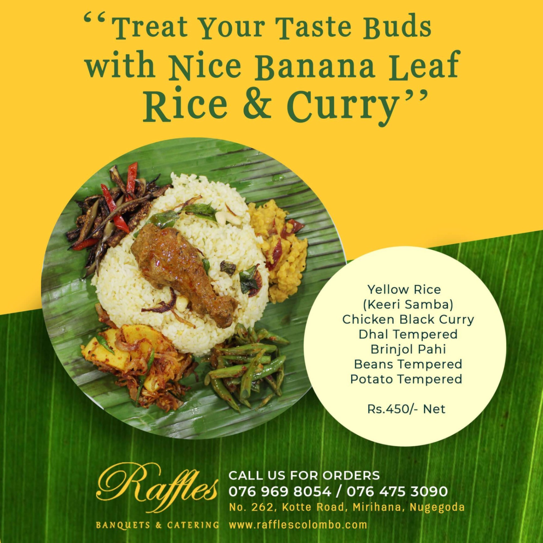 Treat Your Taste Buds with Nice Banana Leaf Rice & Curry