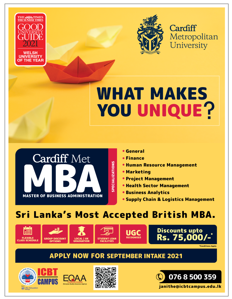 Sri Lanka's most accepted British MBA - Open for registrations