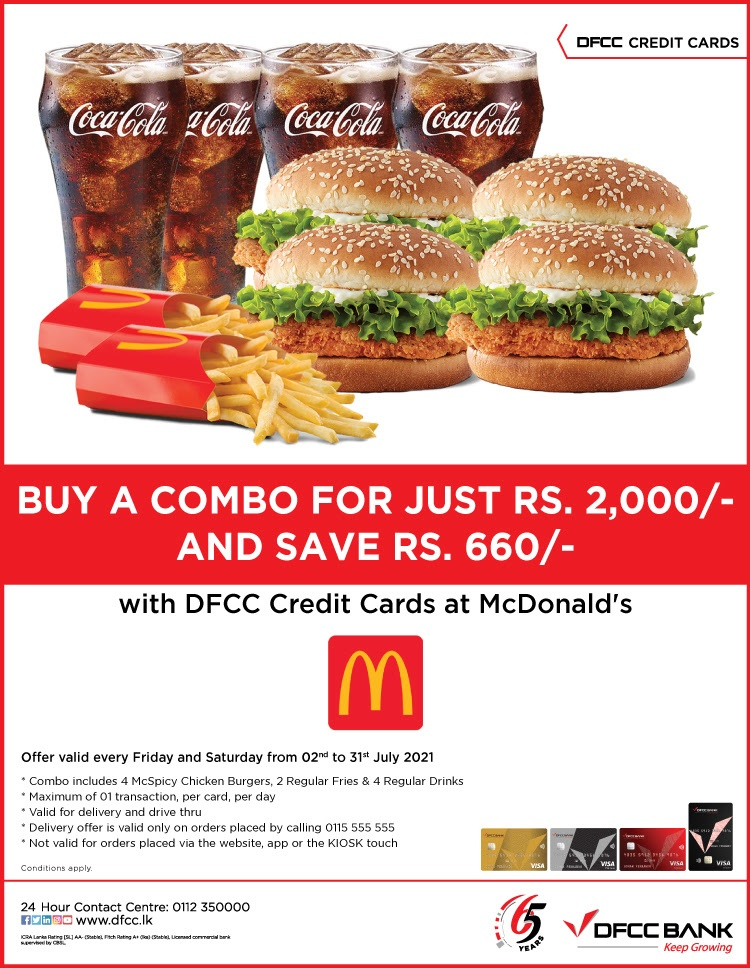 Exclusive Savings at McDonald's with DFCC Credit Cards!