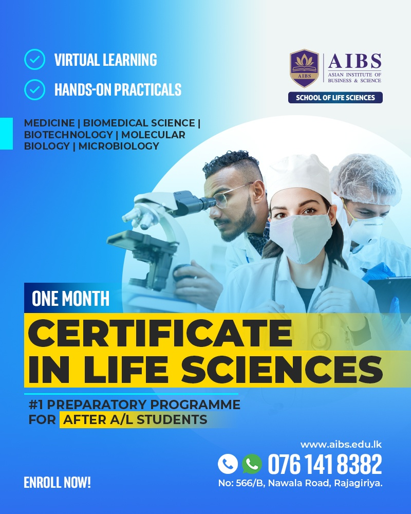 One Month Certificate Program in Life Sciences – Aug 2021