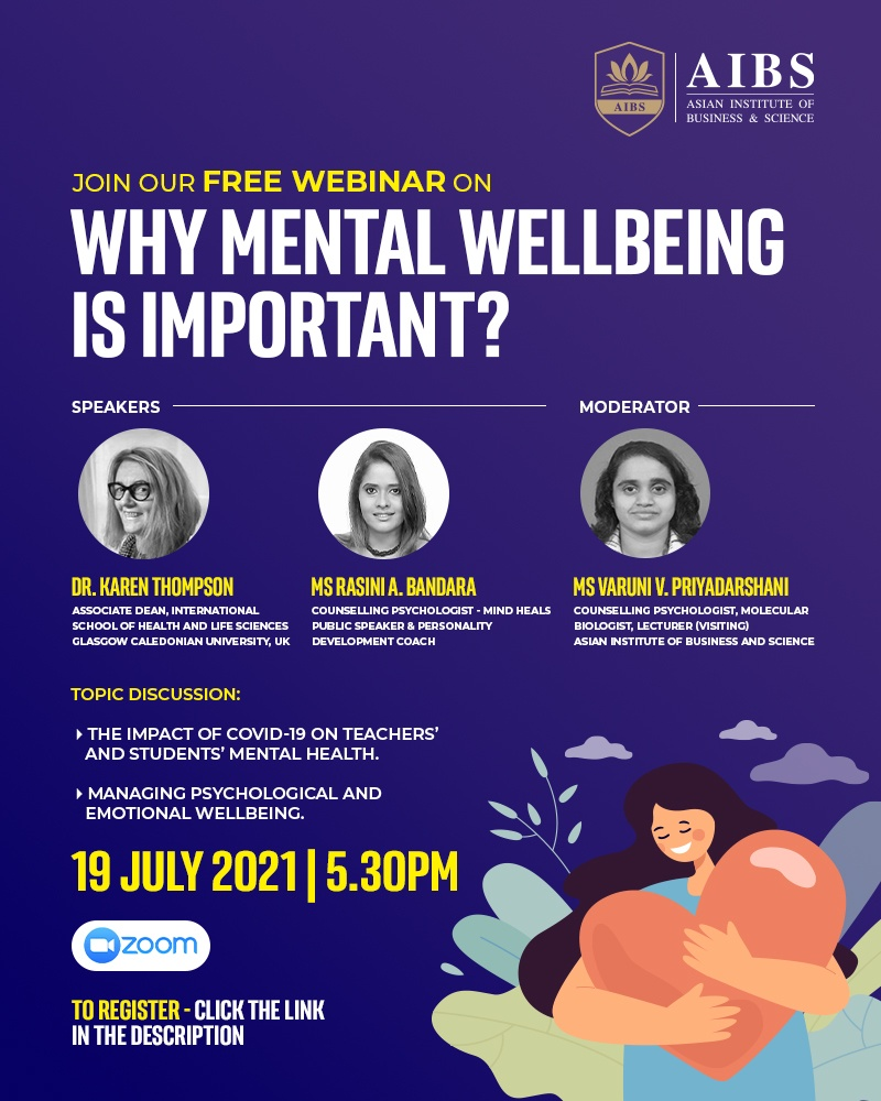 Free Webinar on why mental wellbeing is important