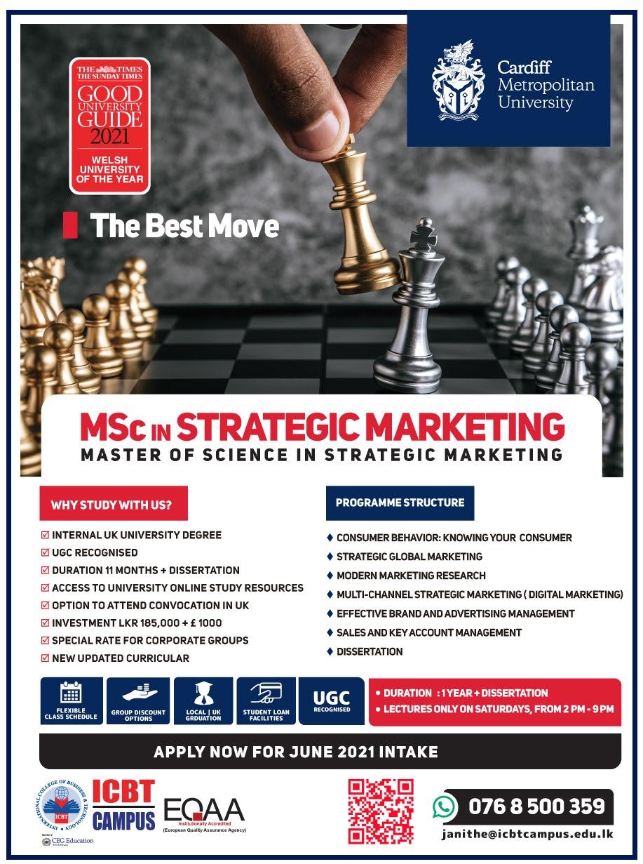 MSc Strategic Marketing – Cardiff Metropolitan University