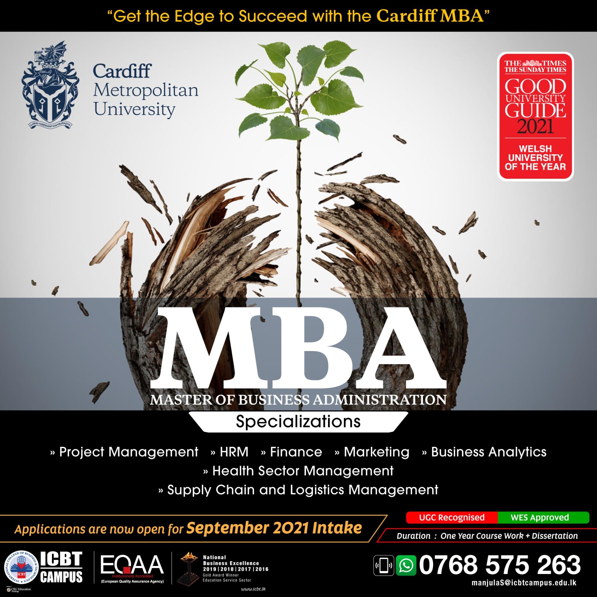 MBA September Intake ICBT Campus.