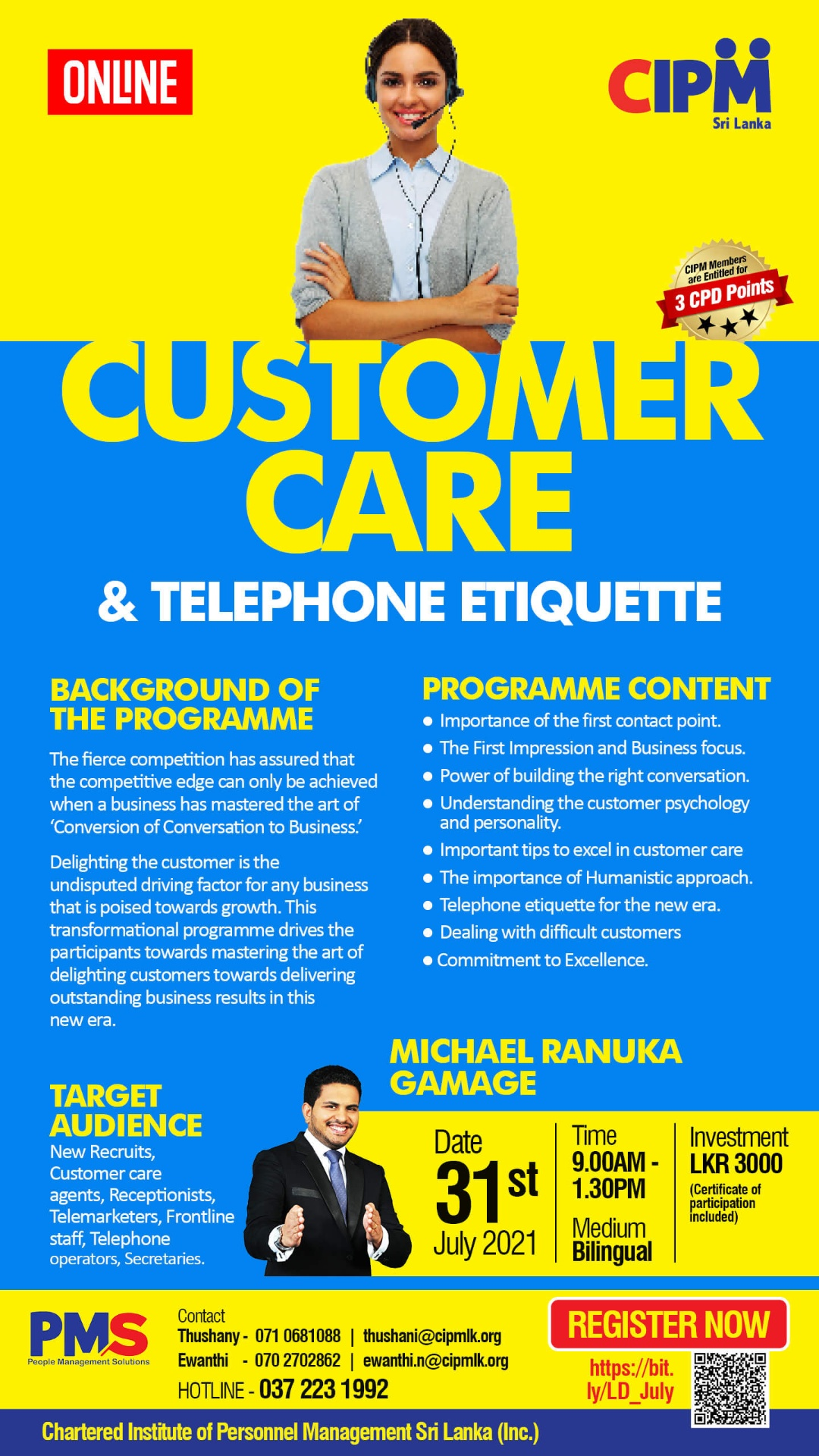 Excel in Customer Care and Telephone Etiquette