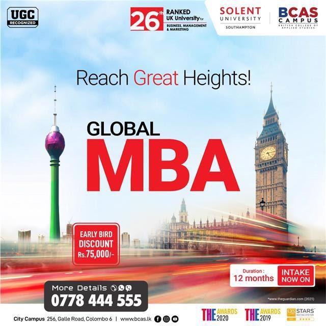 Global MBA from Solent University, UK!