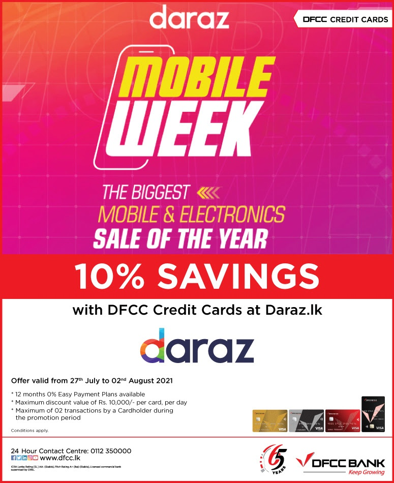 Enjoy 10% Savings at Daraz.lk with DFCC Credit Cards!