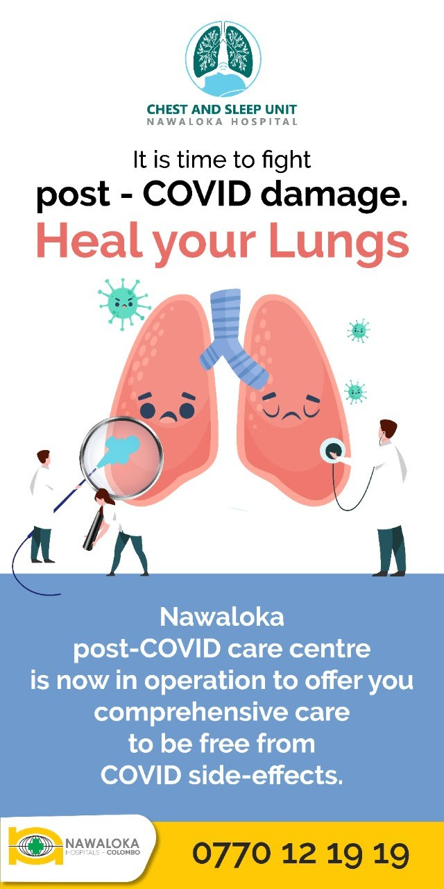 HEAL YOUR LUNGS WITH NAWALOKA POST COVID TREATMENT CENTRE
