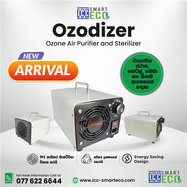 ICC Smart Eco Ozone Sterilizer - For a healthy life, eradicating Covid-19 by disinfecting the air you breathe. Get your very own Ozone Generators Today.