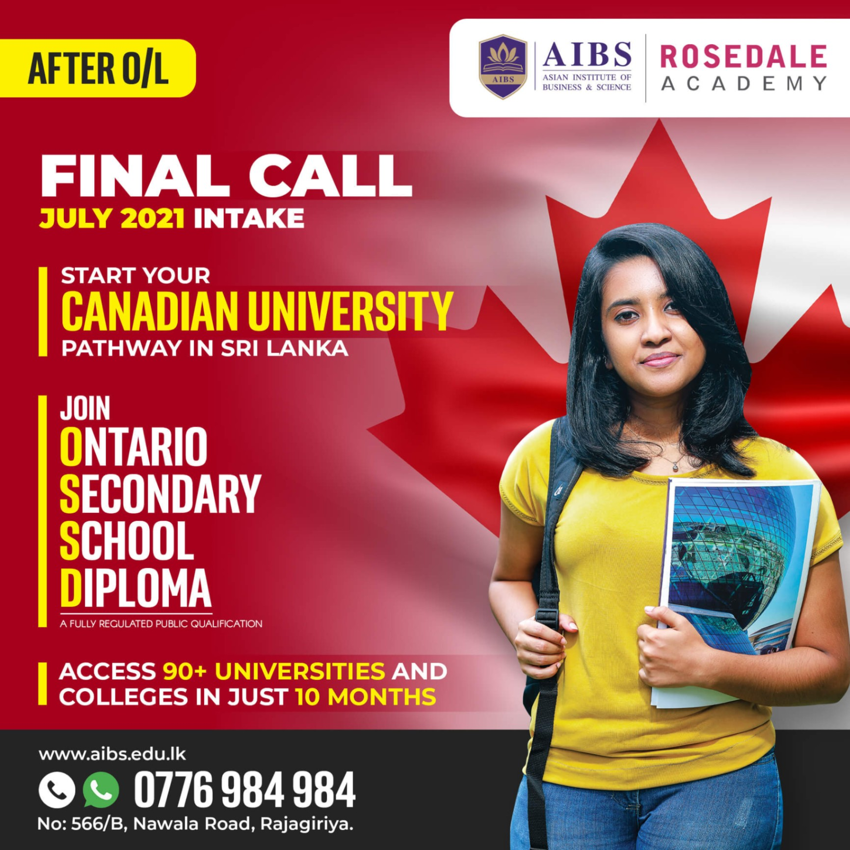 Access 90+ Canadian Universities in just 10 months after OL.