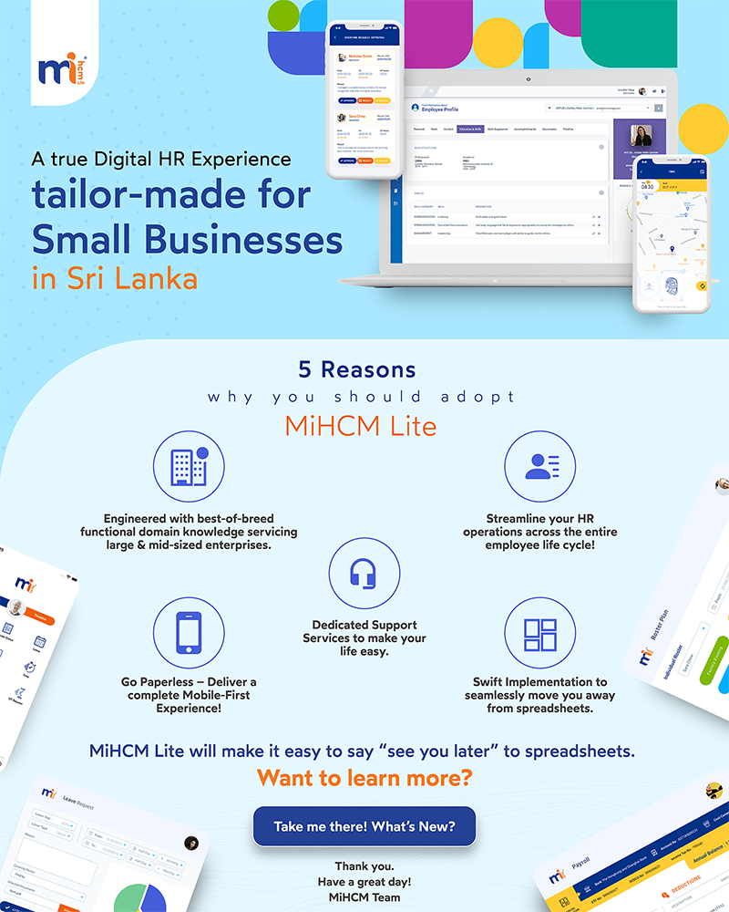 MiHCM Lite- The Perfect HR System for Small Businesses
