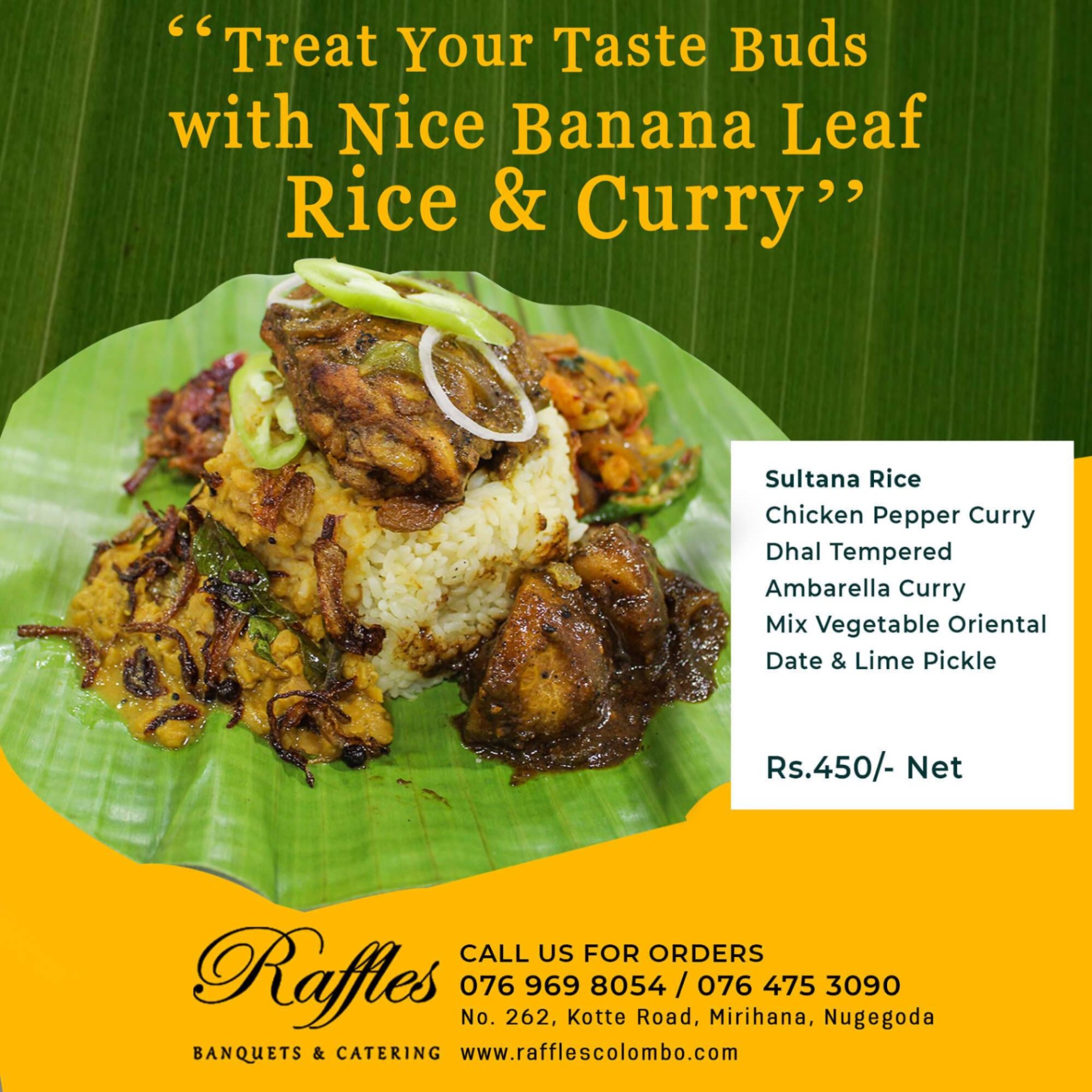 Treat Your Taste Buds with Nice Banana Leaf Rice & Curry!