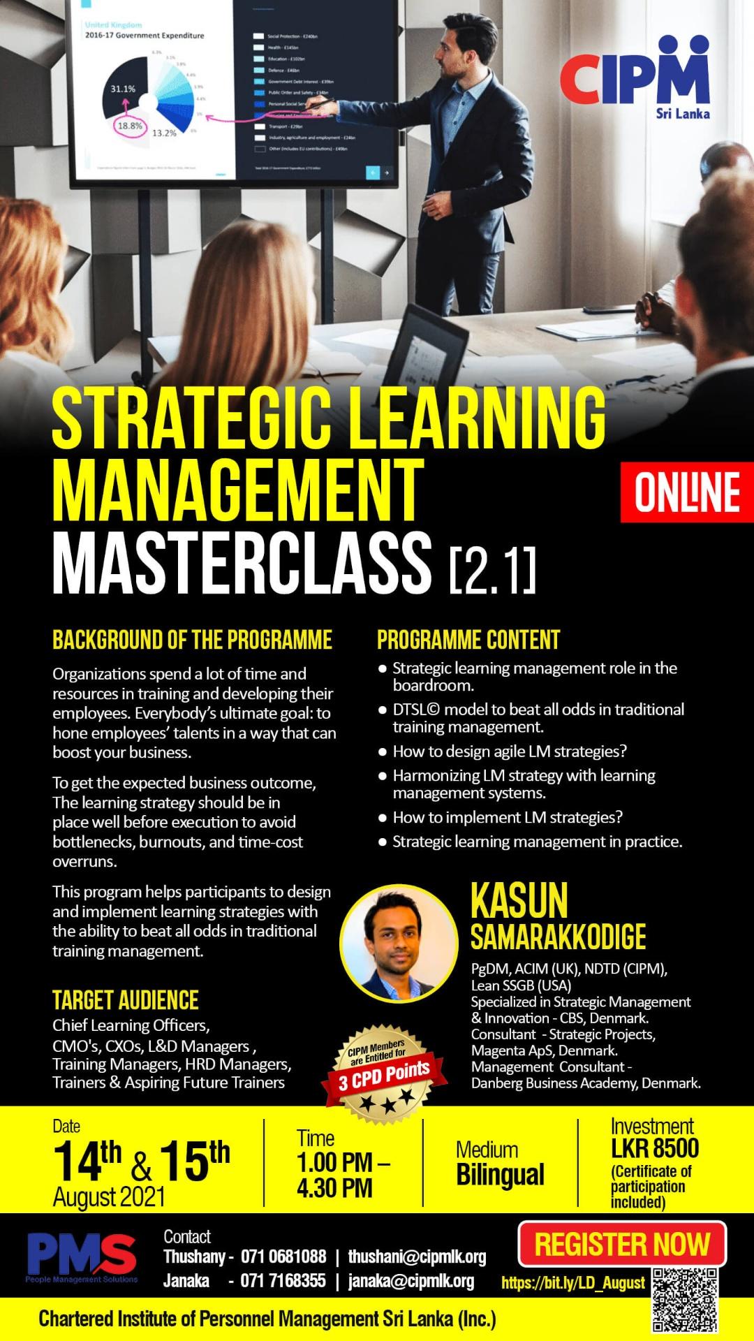 Strategic Learning Management Masterclass [2.1]