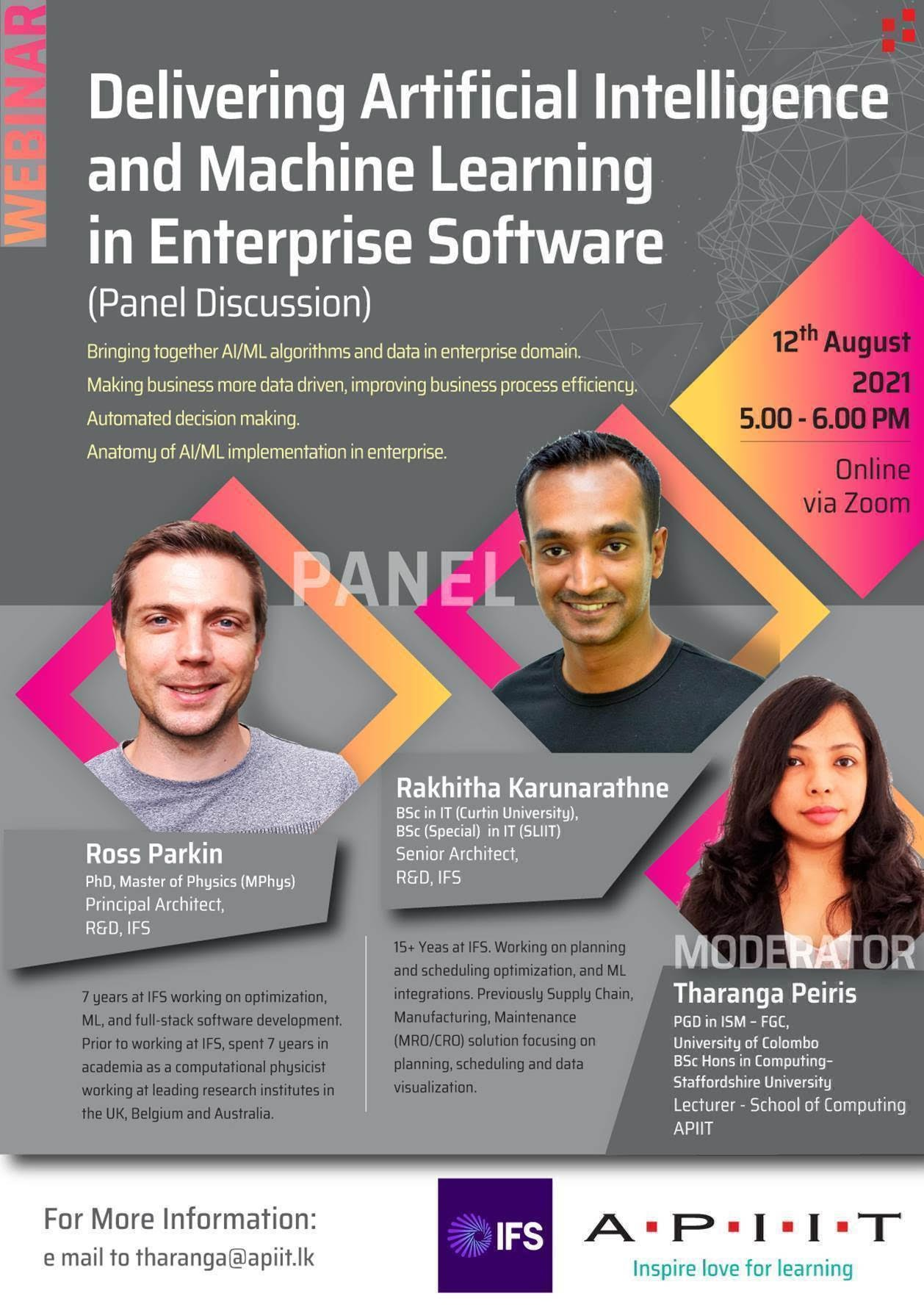 APIIT with IFS – AI Panel Discussion – Register Today!