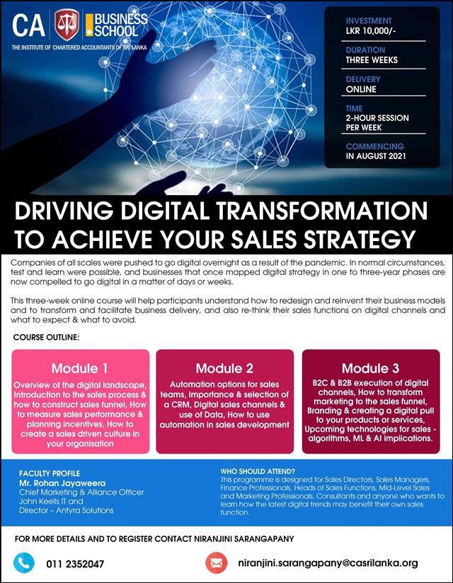 Driving Digital Transformation to Achieve your Sales Strategy