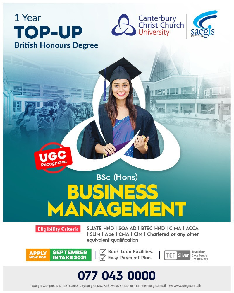 1 year UGC recognized UK Business Management (Top-Up)
