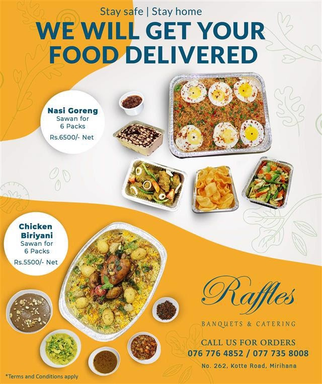 Stay safe! We will get your food delivered!