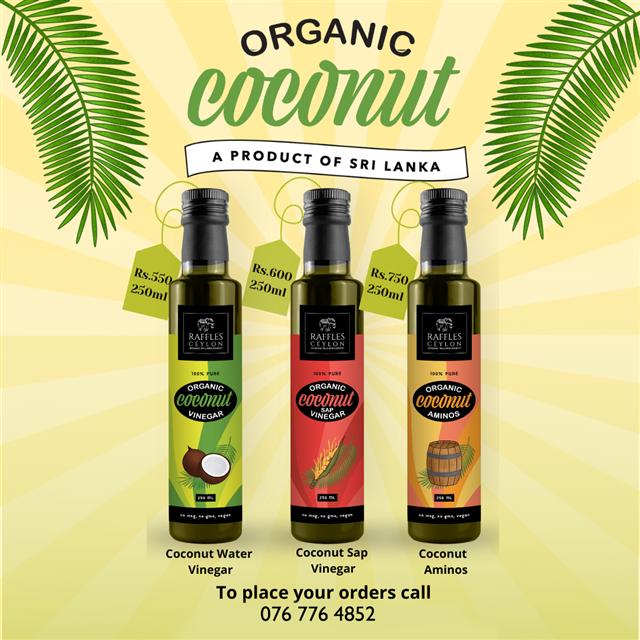 Organic Coconut Vinegar and Organic Coconut Aminos