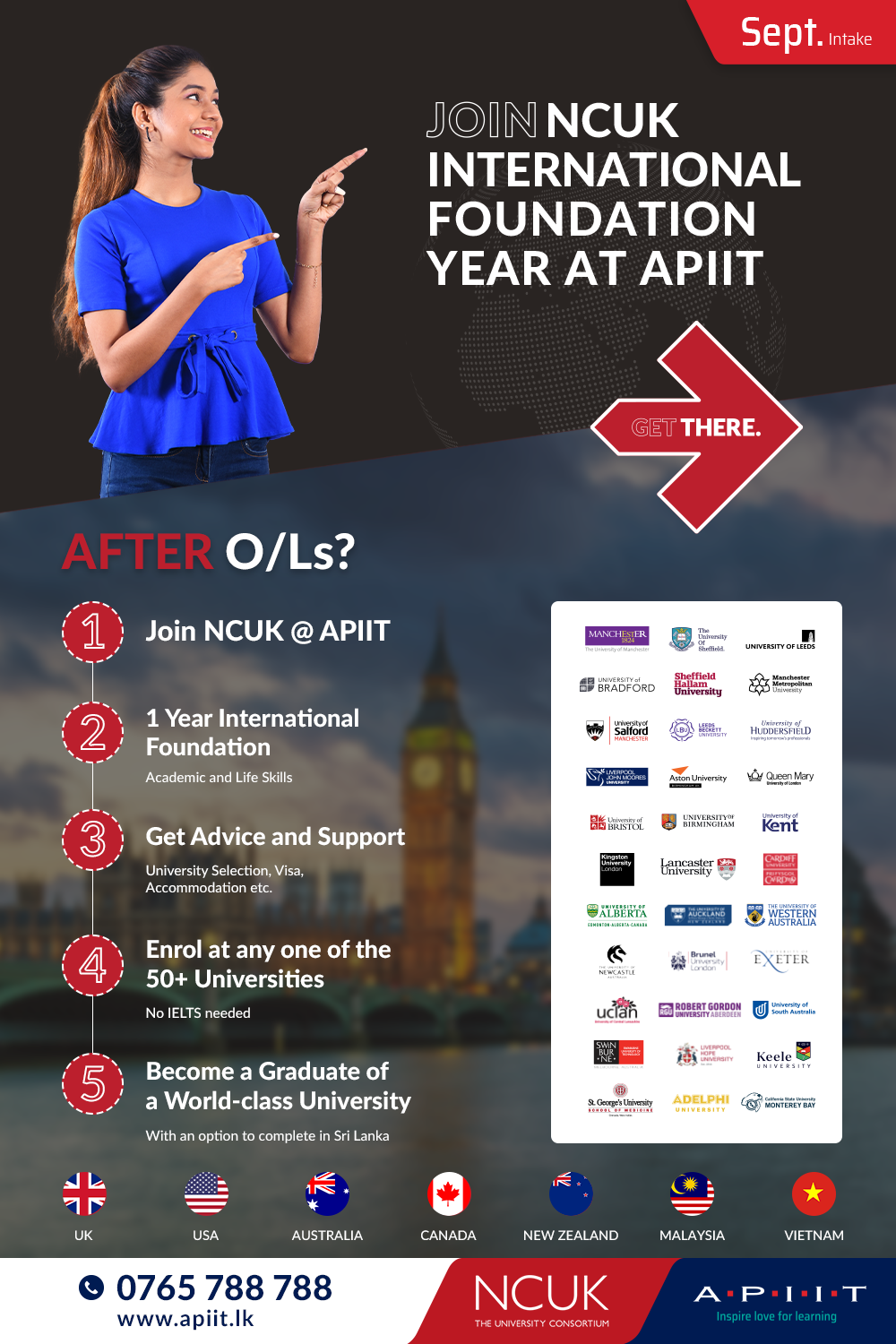 Your Best Route to University Without IELTS at APIIT!