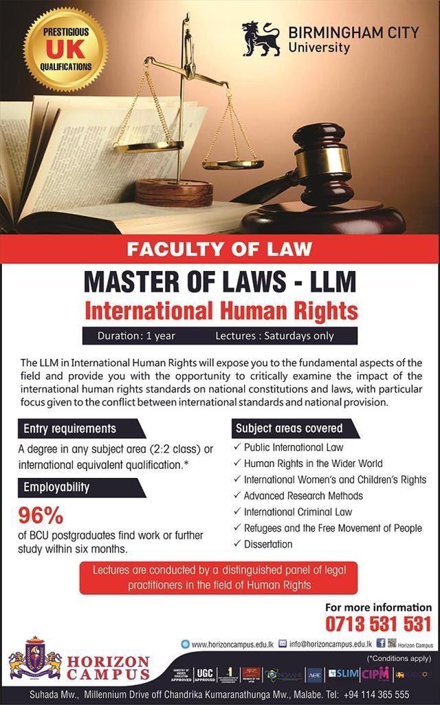 Master of Laws International Human Rights
