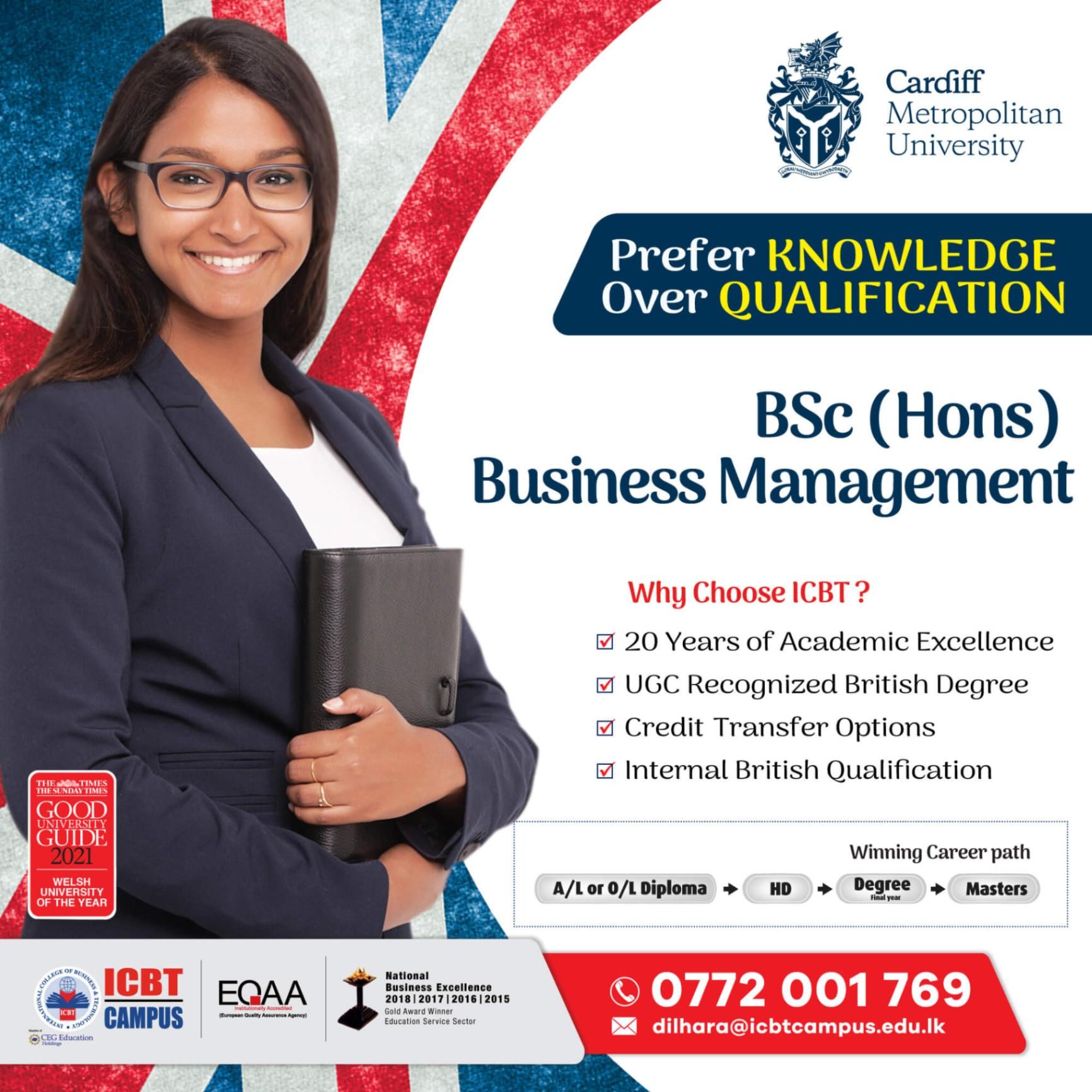 Earn a British Business Degree in Sri Lanka!