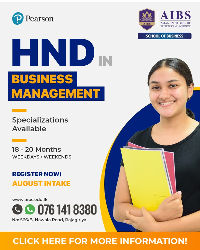 Study While Work - Higher National Diploma in Business | Marketing | Accounting & Finance