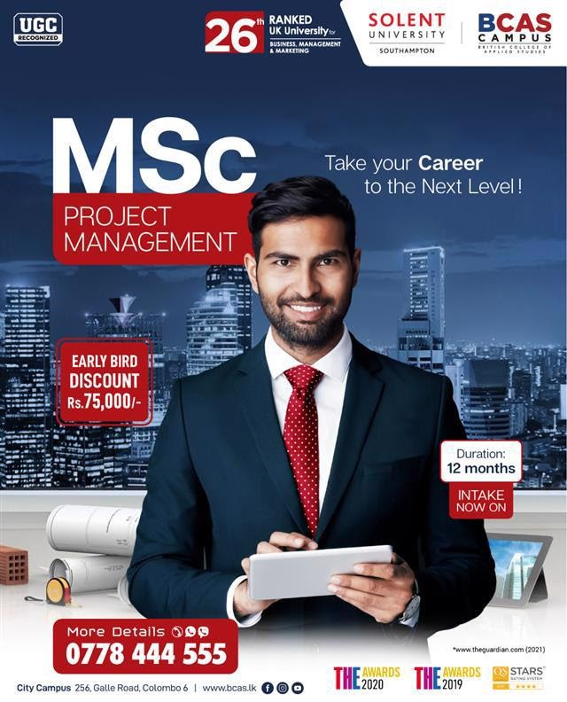 MSc Project Management from Solent University [26th Ranked UK University for Business & Management]