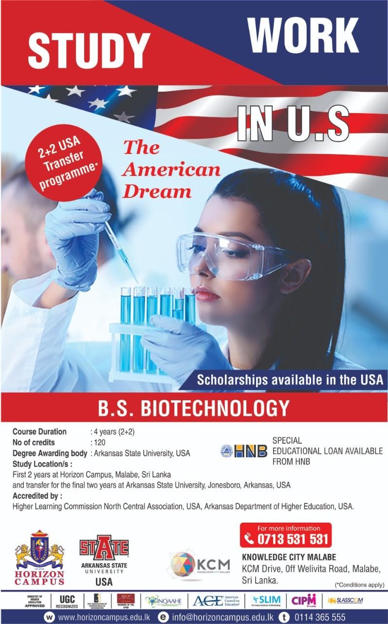 B.S in Biotechnology