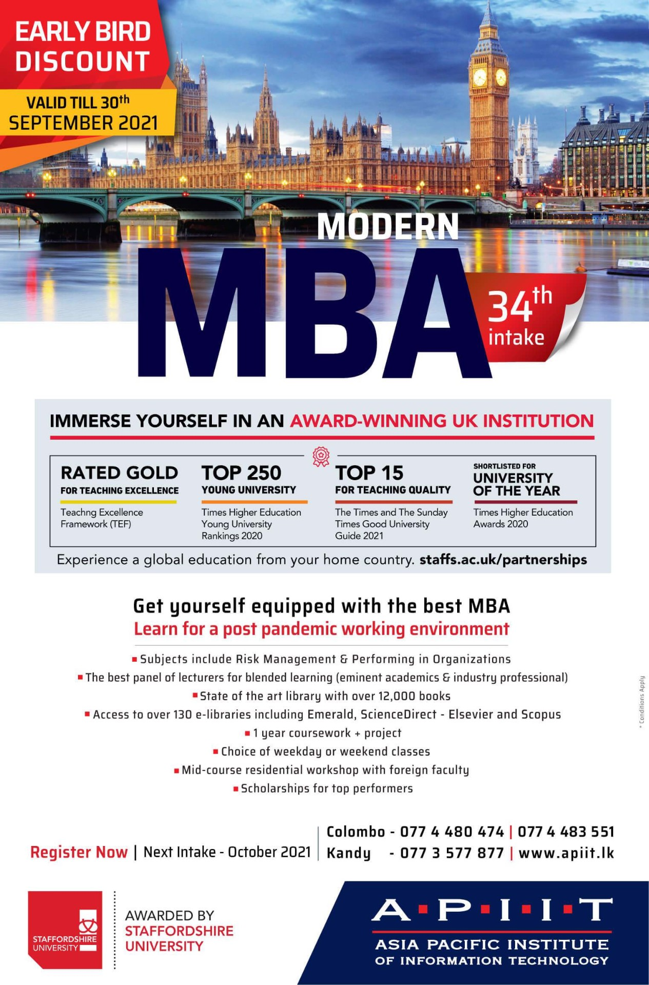 MBA – Book Early for August Intake. Strictly on a First Come First Served Basis!