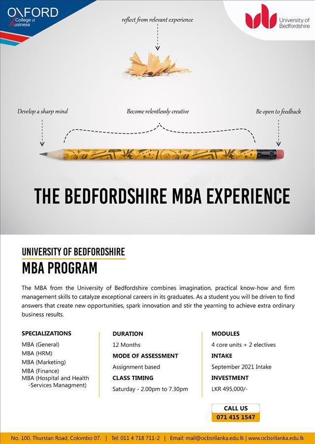 12 Month MBA – September 2021 Intake