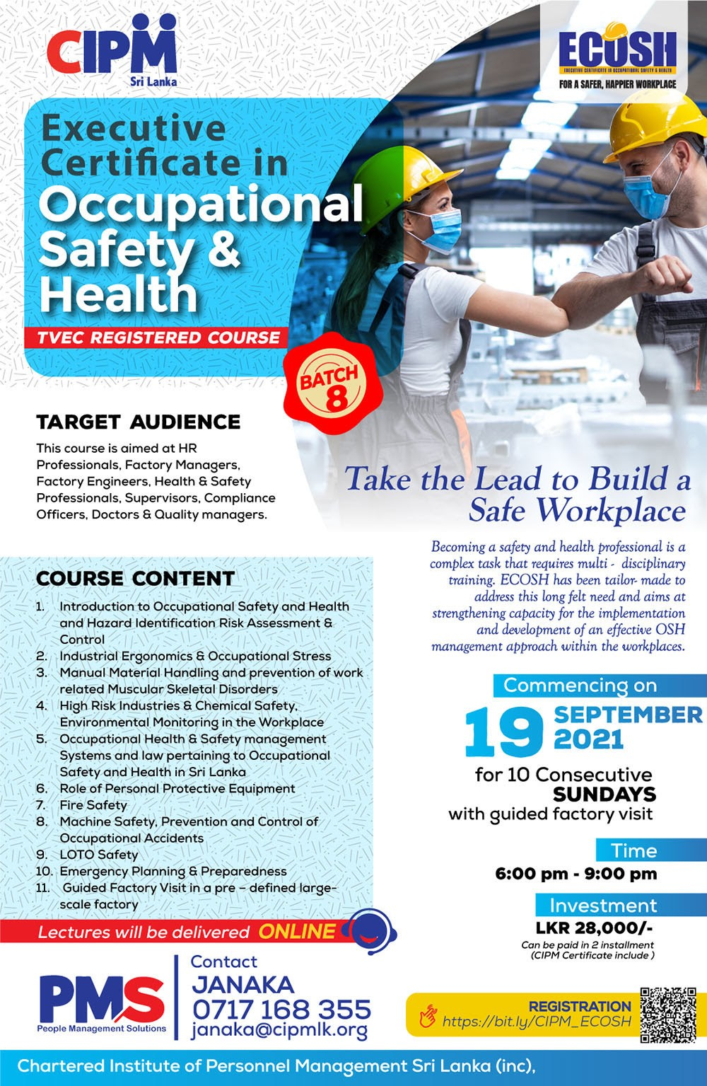 Take the lead to build a safe workplace