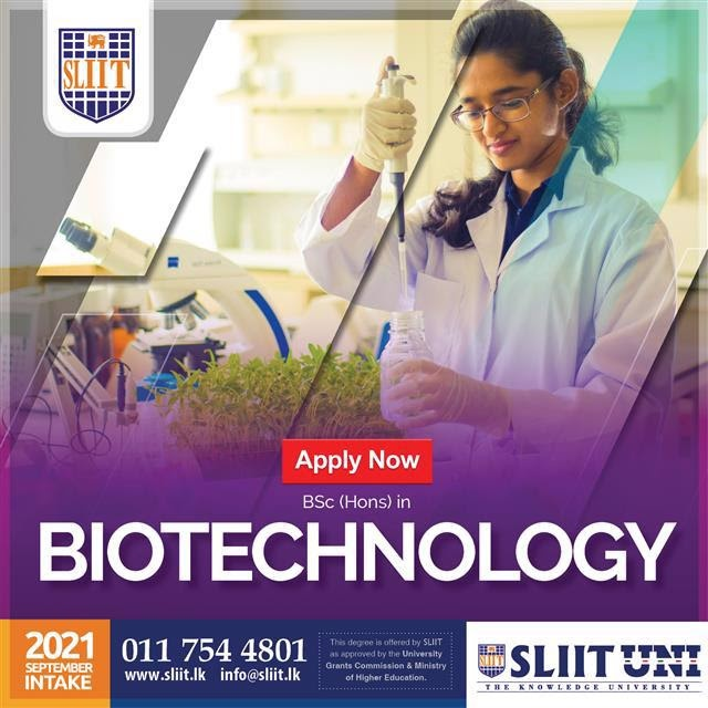 BSc (Hons) in Biotechnology Degree at SLIIT