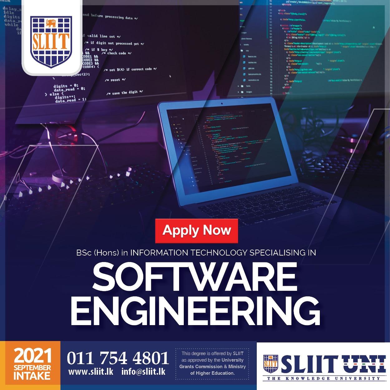 BSc (Hons) in Software Engineering at SLIIT